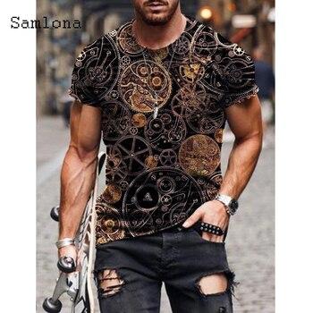 2021 Summer New Fashion 3D Print Tops Streetwear Mens T-shirt Masculinas Casual Pullovers Plus Size 4xl 5xl Men Tees Clothing 1