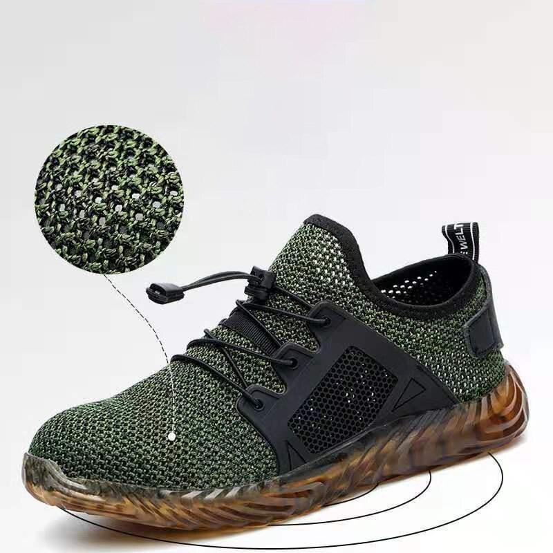 Malha veligheid schoenen ademend tênis onverwoestbaar mannen