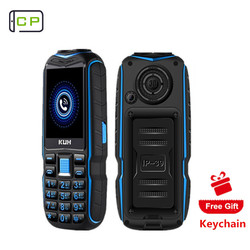 KUH T3 Rugged Outdoor Mobile Phone Long Standby Power Bank Vibration Bluetooth Dual Flashlight Shockproof 15800mAh Loud Speaker