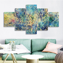 Laeacco Flower Tree Wall Art Spring Natural  Posters Prints Vintage Canvas Painting For Home Kitchen Bathroom Decoration