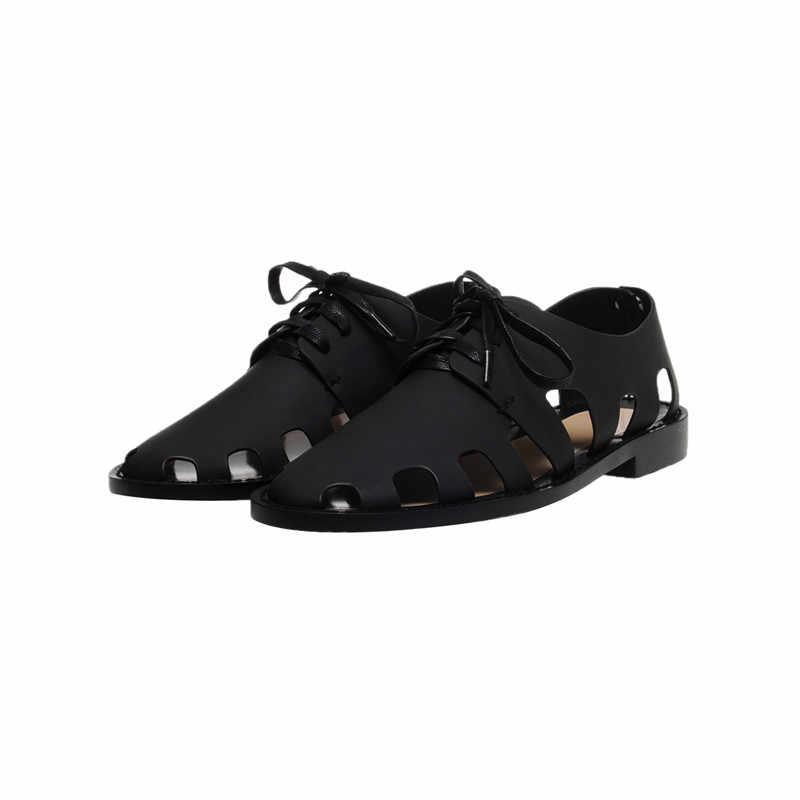 Prova Perfetto חלול החוצה סנדלי גבירותיי נעלי רומא רדוד קיץ נעלי אישה תמציתי Off לבן שטוח אוקספורד נעליים