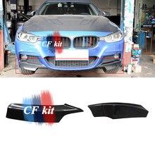 CF комплект P Стиль Настоящее карбоновое волокно передний разделитель спойлер бампера MT для BMW F30 F31 M Tech стайлинга автомобилей