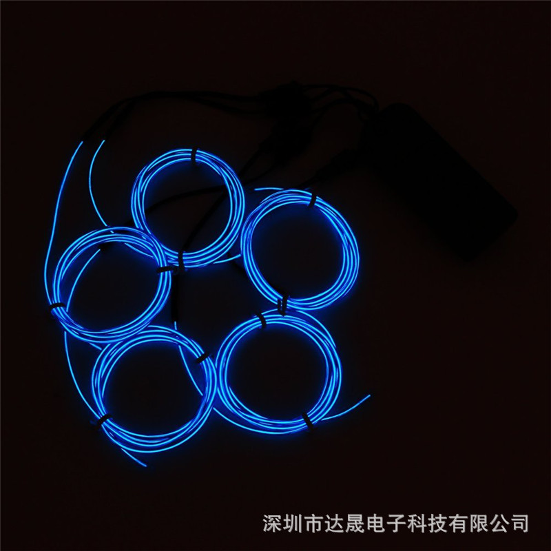 5x1 M Set 3 V Dc Battery Box Driver Unit 2.3 MMEL Luminescent Light Dragged Five EL Wire