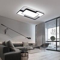 New Design Chandeliers Lamps For Living Room Bedroom Living Room Study Room White/Black Frame LED Chandelier for home lighting