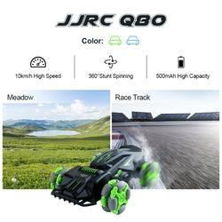 JJRC Q80 2.4G 10km/h High Speed 360 Rotation Anti-collision Tire Remote Control Car RC Stunt Car RC Drift Car Kids Gift
