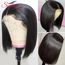 Sophies  Lace Front Human Hair Wigs For Black Women Brazilian Straight Wig 13*4 Bob Pre Plucked Remy