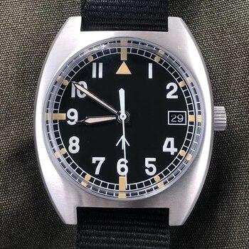Retro Pilot W10 Mens Watch NH35 Automatic Mechanical Wristwatch 100M Diver Air Force Sports Sapphire Luminous Clocks 2021 - discount item  50% OFF Men's Watches