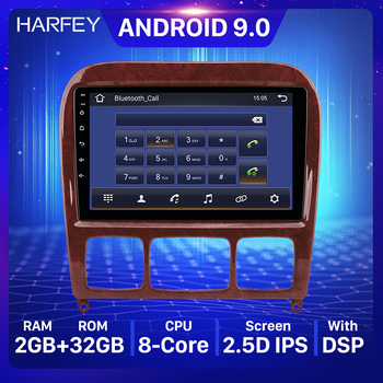 Harfey 2Ddin 9 HD Android 9.0 GPS Car Stereo Player WIFI For Mercedes Benz S Class W220 S280 S320 S350 S400 S430 S500 1998-2005 image