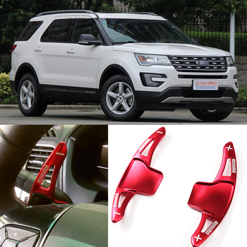 tommia 2pcs Steering Wheel Aluminum Shift Paddle Shifter Extension For Ford Explorer 2013-2017 Car-styling