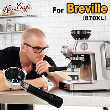 Stainless Steel Coffee Portafilter Handle For Breville Machine 54MM Brewing Head Dedicated Filter