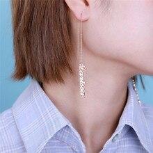 AILIN Custom Name Earrings for Women Customized Dangle Hangi