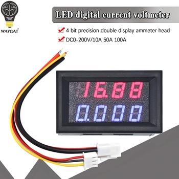 WAVGAT 0.28 Inch Digital DC Voltmeter Ammeter 4 Bit 5 Wires 200V 10A Voltage Current Meter Power Supply Red Blue Dual Display - discount item  30% OFF Active Components