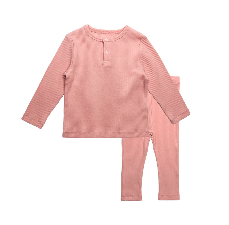 Soft Ribbed Toddler Girl Pajamas For Baby Boys Clothes Set Autumn Winter Children Outfits Long Sleeve Tops Pants 2 Pcs Kids Suit (28)