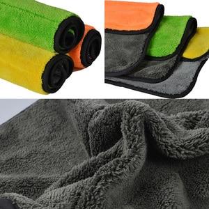 Image 2 - Super Thick Plush Microfiber Car Cleaning Cloths AUTOYOUTH Car Care Microfibre Wax Polishing Detailing Towels 45cmx38cm 3 Colors