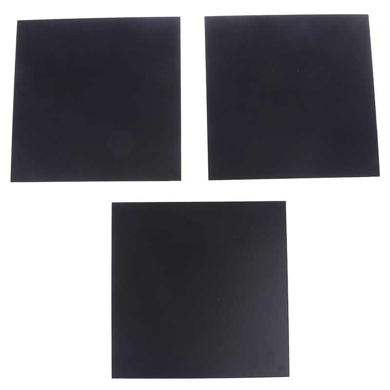 1pc 1mm Thickness ABS Styrene Plastic Flat Sheet Plate Black For Industry Tools 200mmX300mm Dropshipping