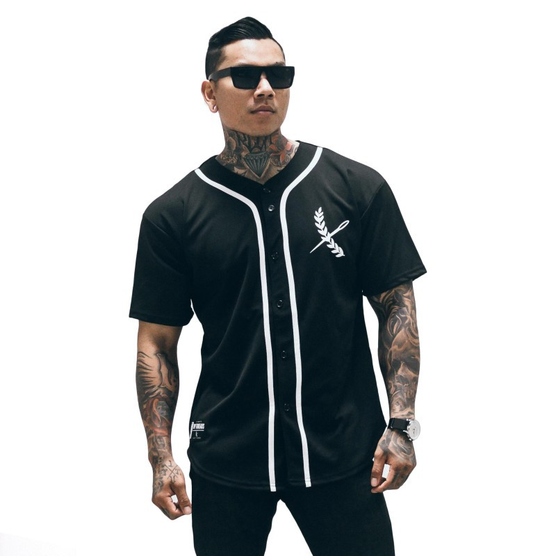 Men Cardigan Short Sleeve Shirt Men Fashion Tshirt Casual Baseball Shirts Unisex T Shirt