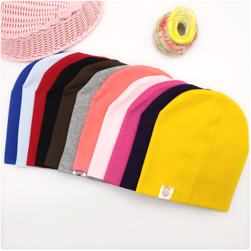 New Baby Street Dance Hip Hop Hat Cotton Spring Autumn Toddler Hat Scarf for Boys Girls Cap Winter Warm Solid Color Children Hat