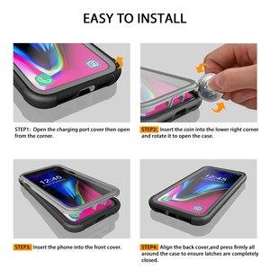 Image 5 - Case Voor Iphone 12 Pro Max 11 Pro Xr Xs 7 8 Effen Schokbestendig Siliconen Telefoon Case Screen Bescherm Case phone Case Clear Back Cover