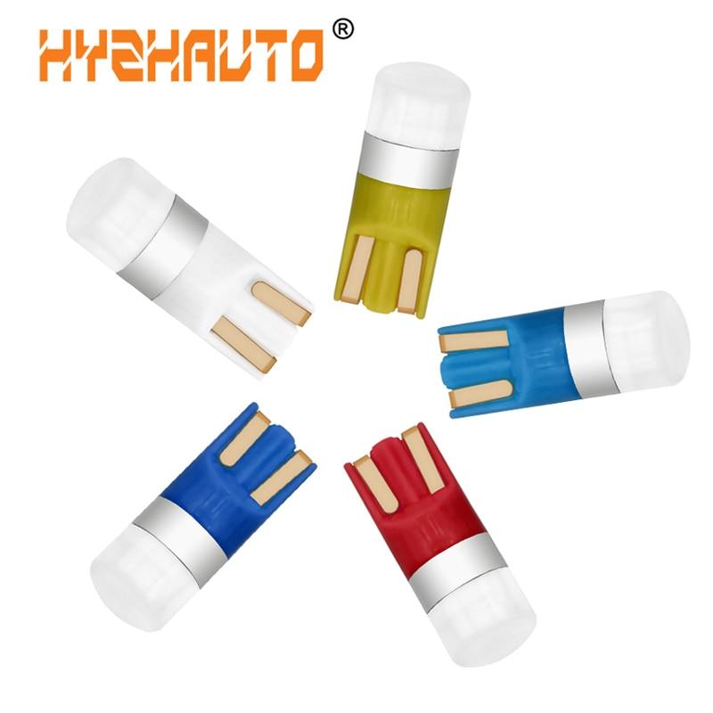 Hyzhatto 10 шт. светодиодный W5W 192 168 T10 Светодиодные лампы 3030 SMD для чтения, лампа для клиновидного освещения, белый, желтый, красный, 12 В