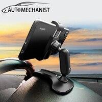 Araba için çok işlevli telefon tutucu klip araba akıllı telefon standı ayarlanabilir otomatik telefon braketi otomatik Stand dikiz aynası montaj