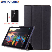 Case voor Lenovo Tab 3 8 TB3-850M TB3-850F Slim Folding Flip Cover PU Leather Case voor Lenovo Tab 2 A8-50 a8-50F A8-50LC 8.0 inch(China)