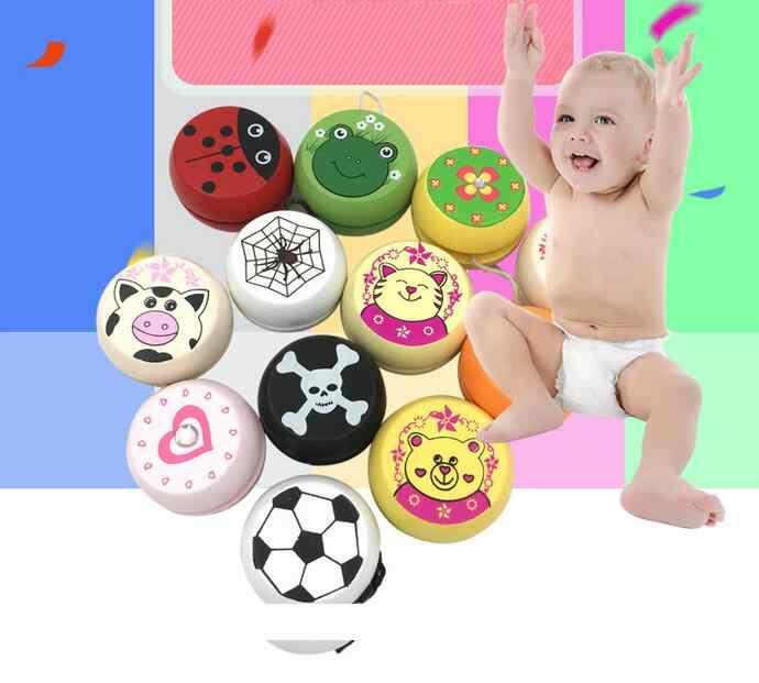 Новый Привлекательный мультфильм божья коровка напечатанный деревянный йо Профессиональный Смешные гаджеты интересные игрушки для детей подарок для детей
