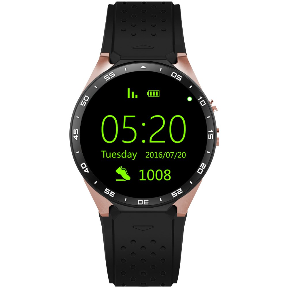 KW88 men's sports smart watch menHeart rate detection GPS positioning smart watch Android 5.1 pedometer OGS capacitive screen