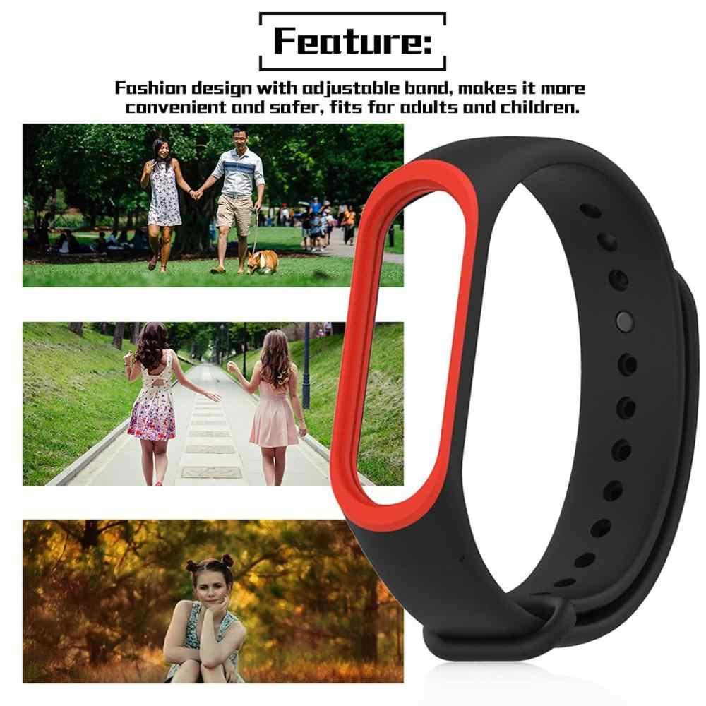 Inteligentne opaski na rękę dla zespołu 3 pasek zamienny pasek na rękę smartwatch z opaską pasek do Xiao mi mi Band 3