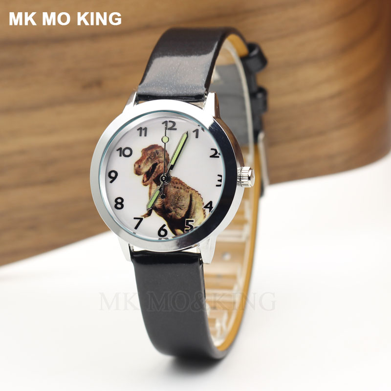 Luxury Brand Dinosaur Tyrannosaurus Rex Jurassied Cartoon Cute Sport Mk Children's Boys Girl Kids Quartz Wrist Watch Clock Gifts