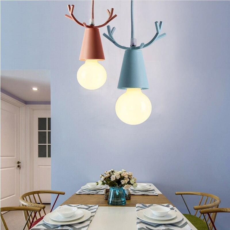 lâmpadas macaron crianças quarto casa luminárias decoração