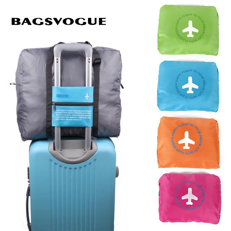 BagsVogue Travel Folding Bags WaterProof Travel Bag Large Capacity Bag Women Nylon Folding Bag Unisex Luggage Travel Handbags