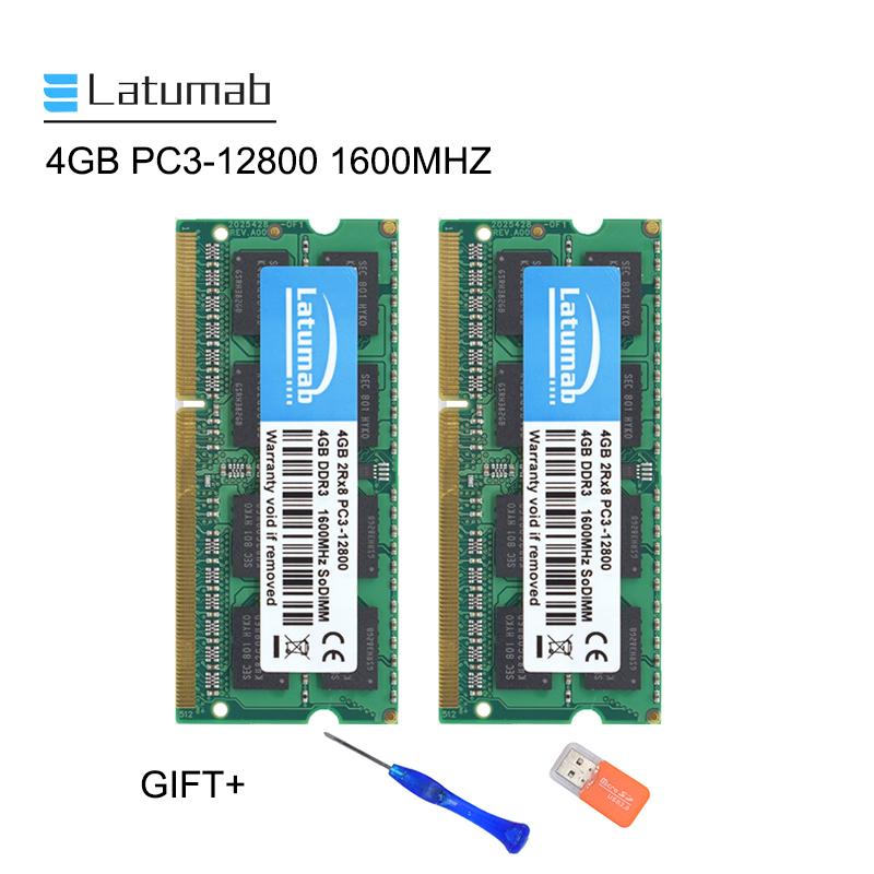 Latumab New <font><b>4GB</b></font> <font><b>DDR3</b></font> 1600mhz PC3 12800 Laptop Memory <font><b>SoDimm</b></font> Memory Ram 204 Pins High Quality Notebook Module <font><b>SODIMM</b></font> <font><b>DDR3</b></font> RAM image