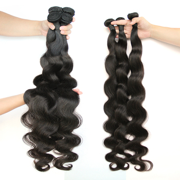 Peruvian Natural Human Hair Body Wave Hair Bundles 30 32 34 36 40 Inches 1 3 4 Bundles Hoho Double Wefts Thick Remy Fashion Hair image
