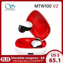 شانلينغ MTW100 V2 سماعة لاسلكية TWS بلوتوث 5.0 IPX7 مقاوم للماء في الأذن سماعة لاسلكية