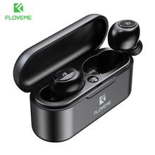 Floveme Bluetooth Draadloze Oortelefoon Hoofdtelefoon Mini TWS5.0 Sport Oortelefoon Headset 3D Stereo Geluid Oordopjes Micro Opladen Doos