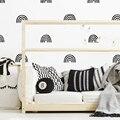 Скандинавские радужные настенные Стикеры для детской комнаты, настенные наклейки, Детская Наклейка, художественные Декоративные наклейки ...