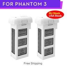 100% DJI Phantom 3 แบตเตอรี่ 2Pcs 4500MAh 23 นาทีสำหรับDJI Phantom 3Advanced/Professional/มาตรฐาน/4K SE Series Drone