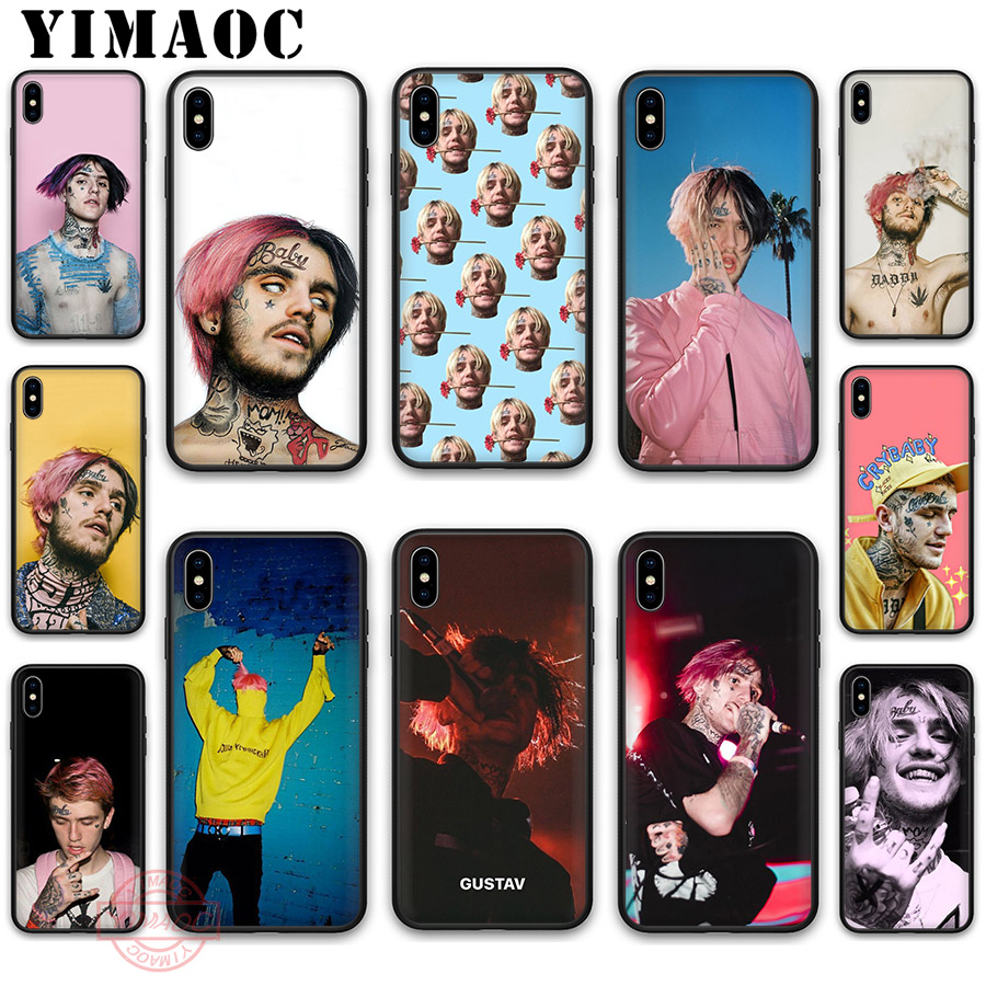 YIMAOC <font><b>Lil</b></font> <font><b>Peep</b></font> Soft Silicone <font><b>Case</b></font> Cover for Apple <font><b>iPhone</b></font> 5 5S SE 6 6S 7 <font><b>8</b></font> Plus X XS XR 11 Pro Max Back Shell image