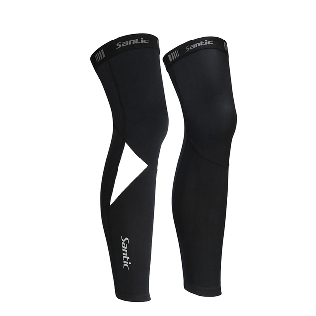 Santic Men Cycling Leg Warmers MTB Bike Bicycle Leggings Running Warm Cycle Basketball winter Sports Tights Asian size K8ME023