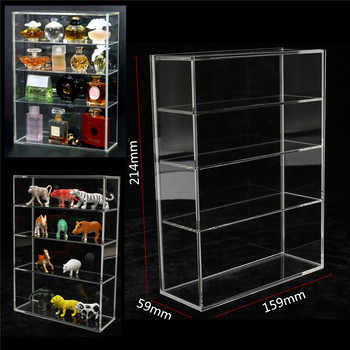 214x159x59mm High Gloss Acrylic Show Case Display Box Show Case Sliding Door For Mini Perfume Bottle Jewelry Crafts Display