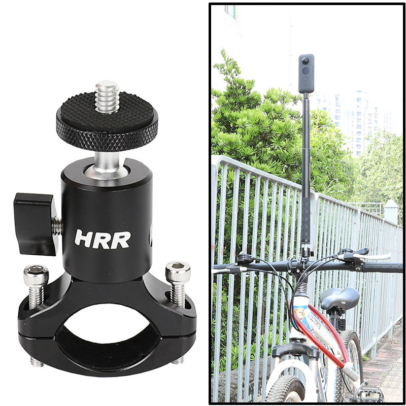 Cycling Bike Mount Handlebar Holder Invisible Selfie Stick,1/4 Screw Thread,for Insta360 ONE X, EVO, ONE Panoramic Action Camera