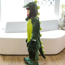 Детские рождественские пижамы зимние теплые фланелевые пижамы с динозавром новые детские пижамы с рисунками животных для мальчиков и дево...