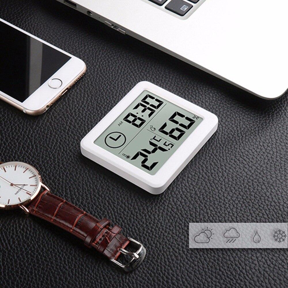 Многофункциональный гигрометр, Автоматический электронный термометр для измерения влажности с ЖК монитором, 3.2 дюймов