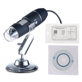 Electronic Microscope 500X 8 LED Digital USB Microscope Magnifier Electronic Stereo USB Endoscope Camera with Stand luckyzoom stereo zoom microscope focus adjustment arm microscope head holder ring to stand post arbor microscope accessories