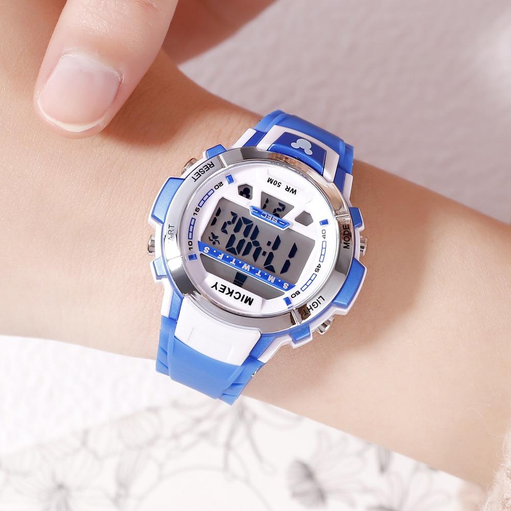Disney дети% 27 часы водонепроницаемые светящиеся многофункциональные электронные часы спортивные мальчики и девочки студенты часы