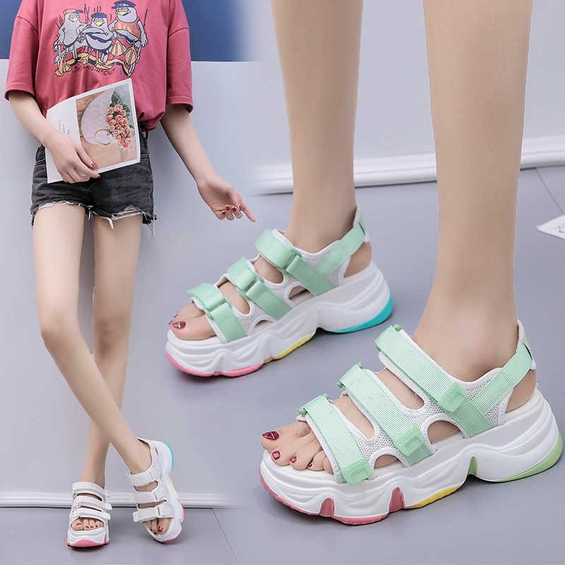 MBR FORCE/новые женские сандалии; Женские летние сандалии на платформе; Женские дышащие удобные сандалии для прогулок; Белая обувь; Женская обувь