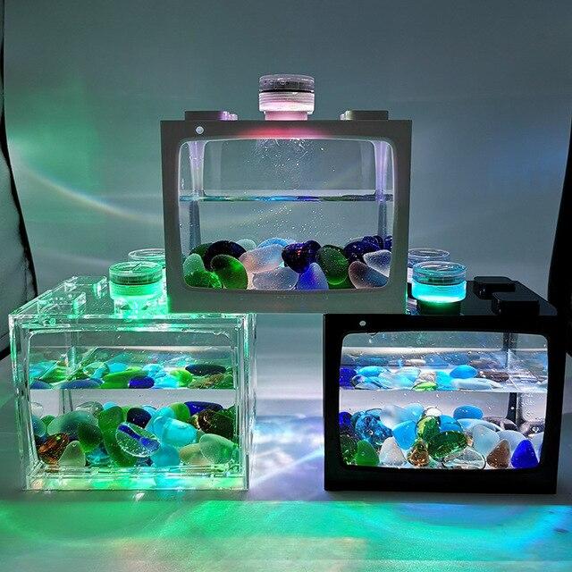 Mini Fish Tank For Desk Top Goldfish - Tetras - Bettas 6