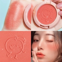 New 6 Colors Blush Makeup Palette Mineral Powder Red Rouge Lasting Natural Cream Cheek Tint Orange Peach Pink Blush Cosmetic