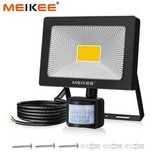 50W LED projektör hareket sensörü ile su geçirmez AC110V 220V PIR LED projektör açık projektör lambası spot bahçe için