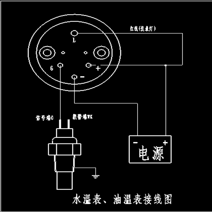 Medidor de pressão de óleo vdo, medidor